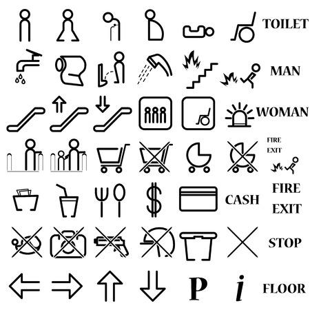 vectors symbol icon toilet shopping