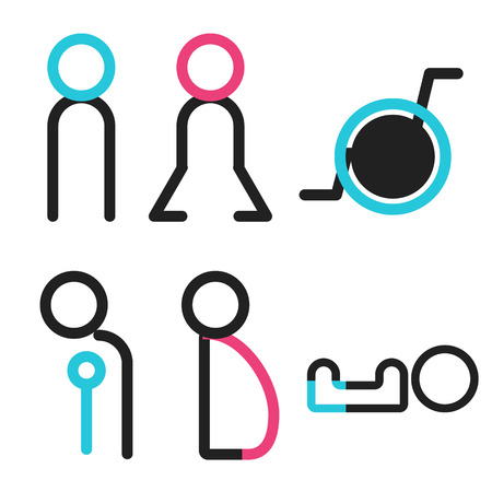sexes: vectors symbol icon toilet shopping