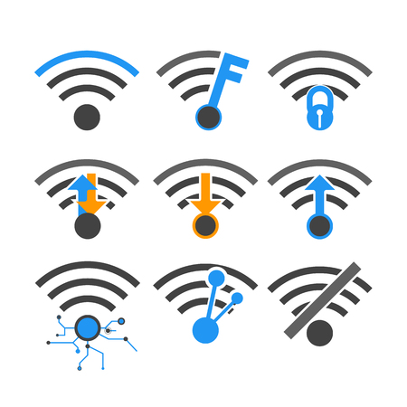 wireless internet: vectors wireless internet network