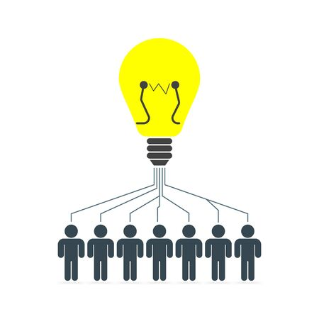 vector business illustration concept Creative idea lamp Illustration