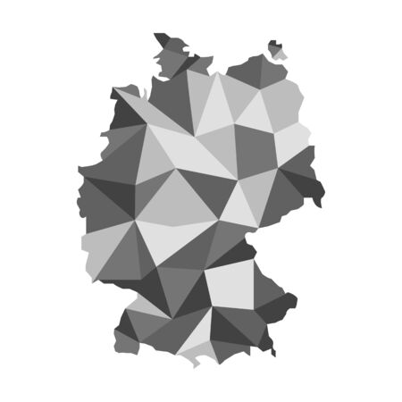 federal republic of germany: vector basics: maps of Germany