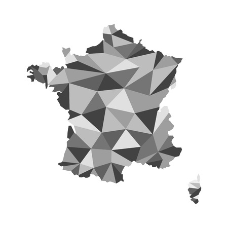 corsica: France map polygon Illustration