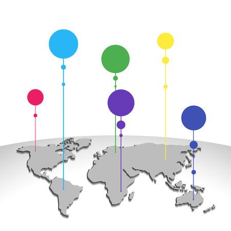 realist: Vector World Map Illustration