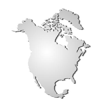 vector de Norte América Mapa
