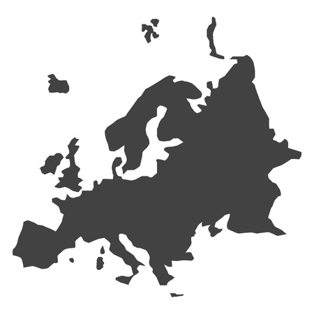 papery: vector Europe map Illustration