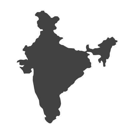 Concept map of India, vector design Illustration.