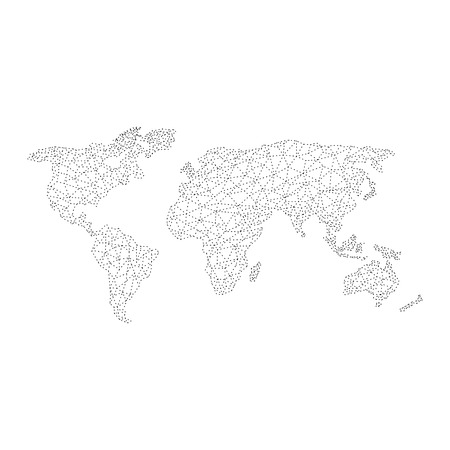 precision: vectors World Map polygonal precision low-poly Illustration