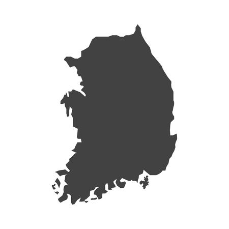 dictator: vector Map of Korea Illustration