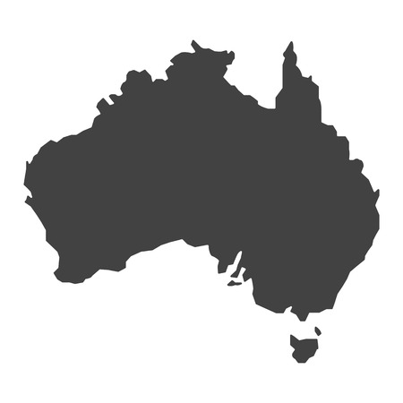 delineation: map of australia map concept vector Illustration