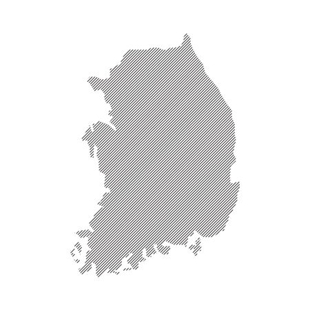 dictatorship: vector Map of Korea Illustration