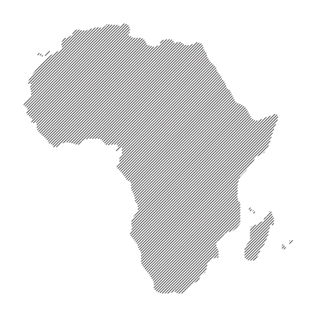 papery: concept  vector Africa map
