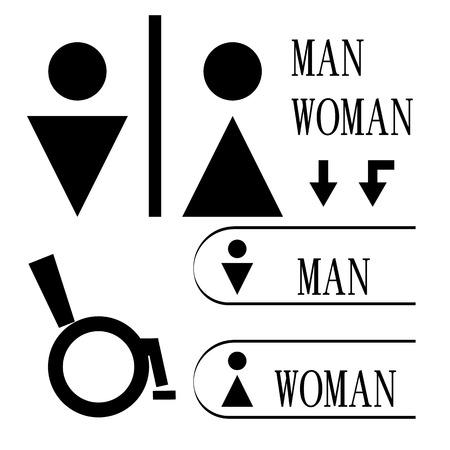 toilet symbol: icon toilet symbol sign