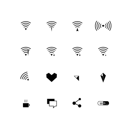 wireless internet: wireless internet network Illustration