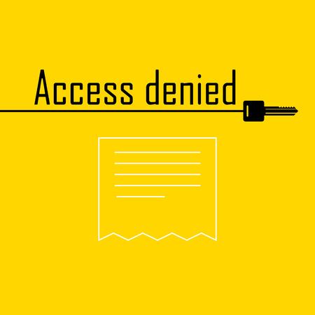 error message: message error Access denied sign