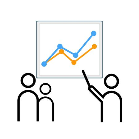business communication: illustration Infographic business communication design office Illustration