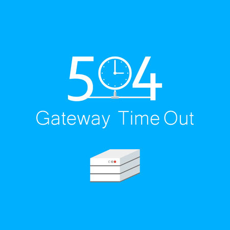 time out: Abstract background 504 connection error  gateway time out Illustration