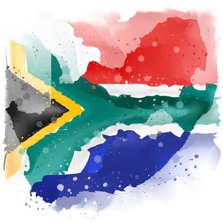 map of south africa Watercolor paint