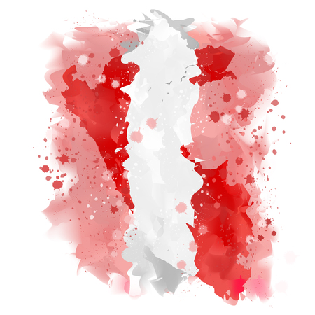 mapa del peru: mapa de la pintura de la acuarela Perú