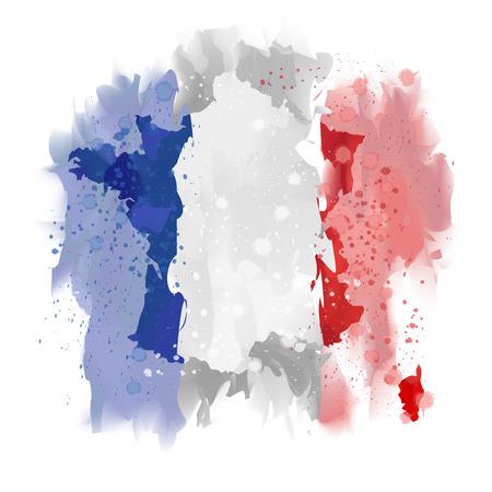 corsica: France map Watercolor paint