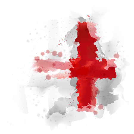 map of england Watercolor paint Illustration