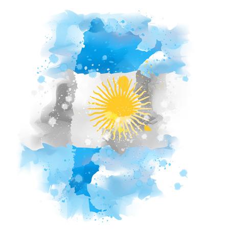 plateau: map of Argentina design Illustration Watercolor paint Illustration