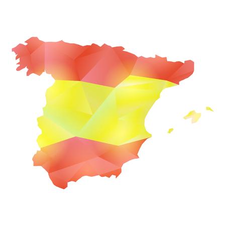 vector map Spain polygon