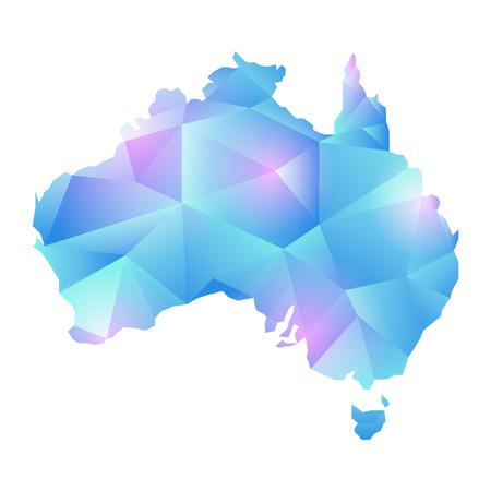 edges: A map of australia map concept vector polygon.