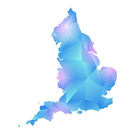 vector map of england polygon