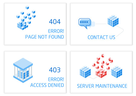 Vectors Abstract background connection error access website