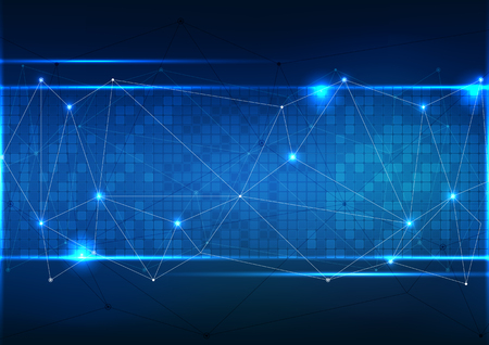Vector polygon background abstract technology communication data Science.