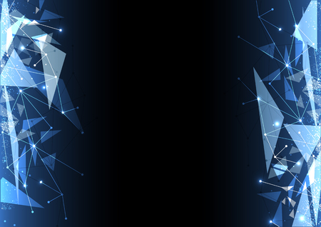 electronic background: vector polygon background abstract technology communication data Science