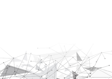 vector polygon background abstract technology communication data Science