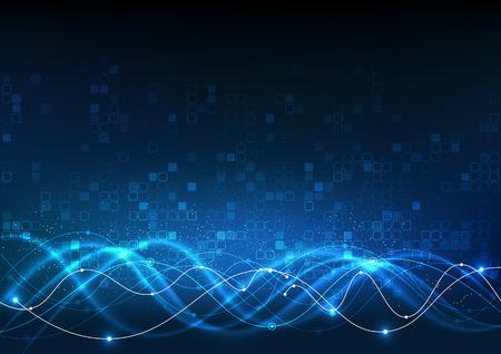 Wektor tła abstrakcyjna technologii komunikacji danych Nauka