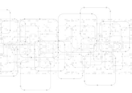 Abstract technology illustration, communication data security illustration.