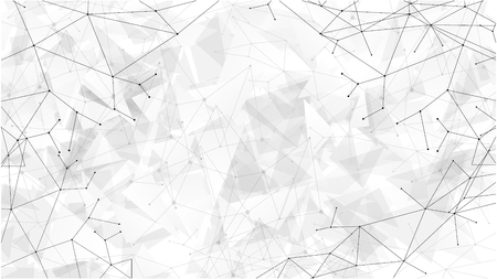 Background abstract polygon data technology communication vector design illustration Ilustração