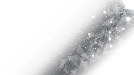 Background abstract polygon data technology communication vector design illustration Ilustração