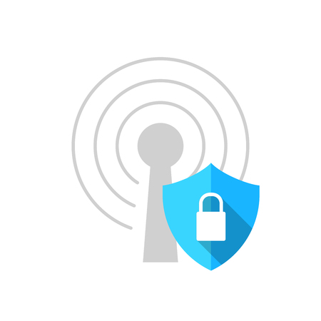 vector technology illustration communication data security flat