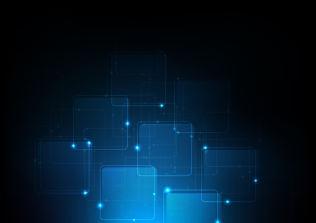 background abstract polygon data technology communication vector design illustration Illustration
