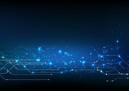 vettore sfondo astratto tecnologia illustrazione elettronica dati di comunicazione Vettoriali