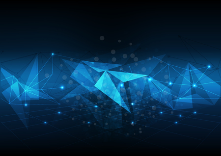 vector abstract background technology electronic illustration polygonal data