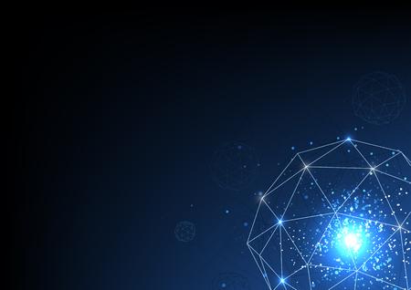 vettore sfondo astratto tecnologia illustrazione elettronica dati di comunicazione