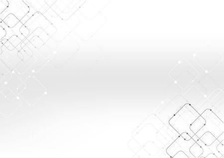 vecteur, polygone, fond, résumé, technologie, communication, données, science