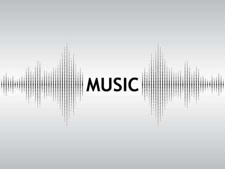 sonic: Abstract black background sound waves with the text Music.