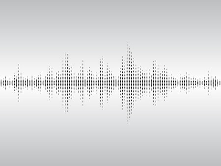 vibrations: Abstract black sound waves background for parties, clubs, discos and concerts.