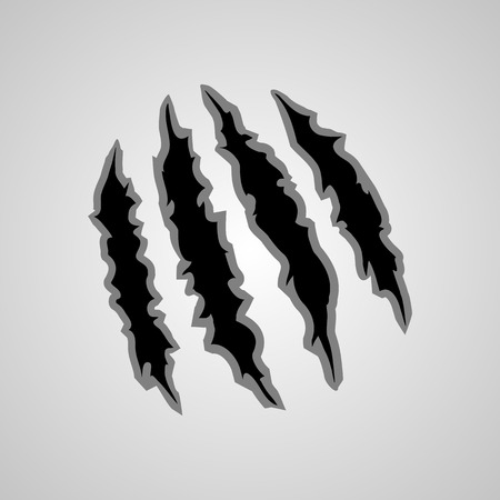 Illustration of a monster claw marks. Animals claw.