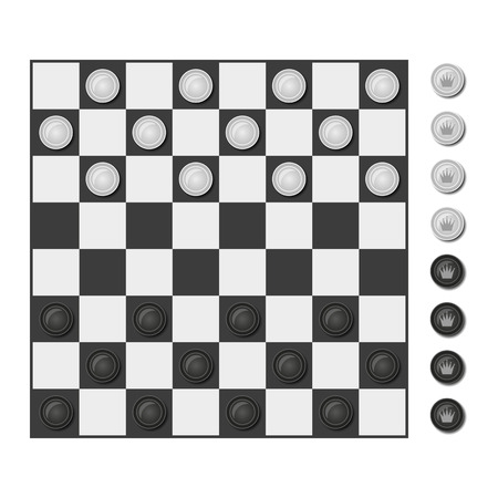 draughts: Checkers full set for play. Design checkers game.