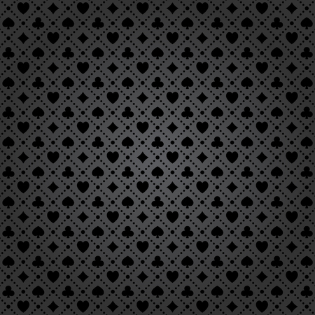 Black poker background with dots pattern. Ilustrace