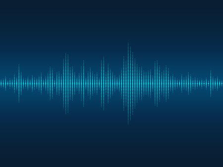 Il suono blu luminoso astratto onde sfondo per feste, discoteche, discoteche e concerti.