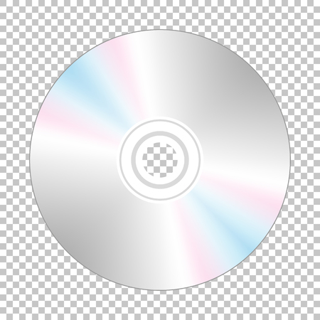 backside: Realistic cd-disk backside, isolated on the checkered background.