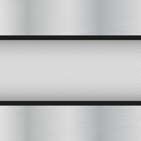 polished: Polished metall background with a striped frame in the center.